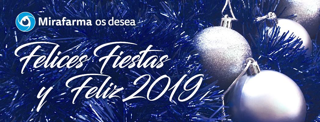 ¡Mirafarma os desea unas Felices Fiestas y próspero año 2019!
