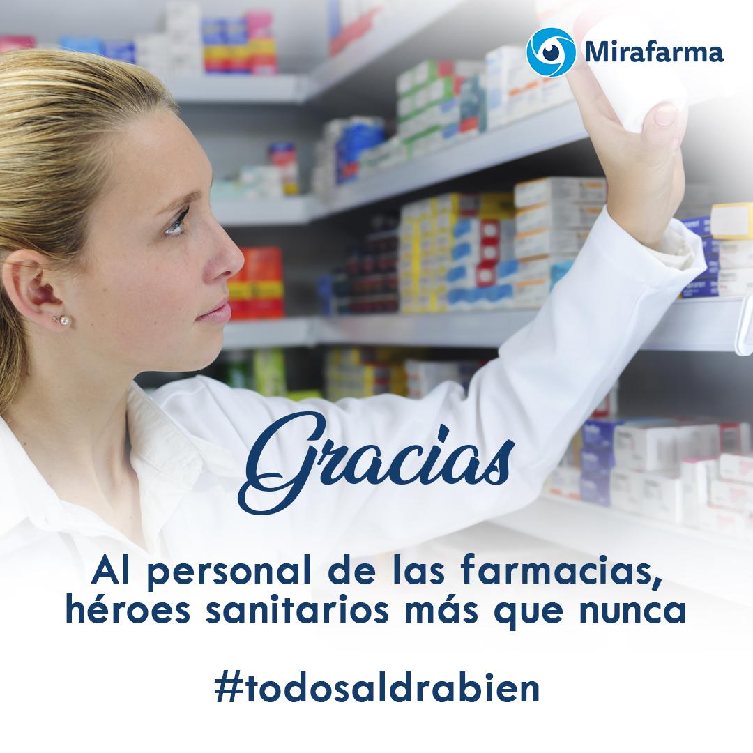 Gracias a todo el personal de las farmacias